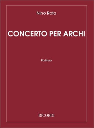 Concerto Per Archi ROTA Partition Grand format - laflutedepan