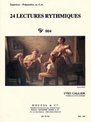 24 Lectures rythmiques - Yves Callier - Partition - laflutedepan.com