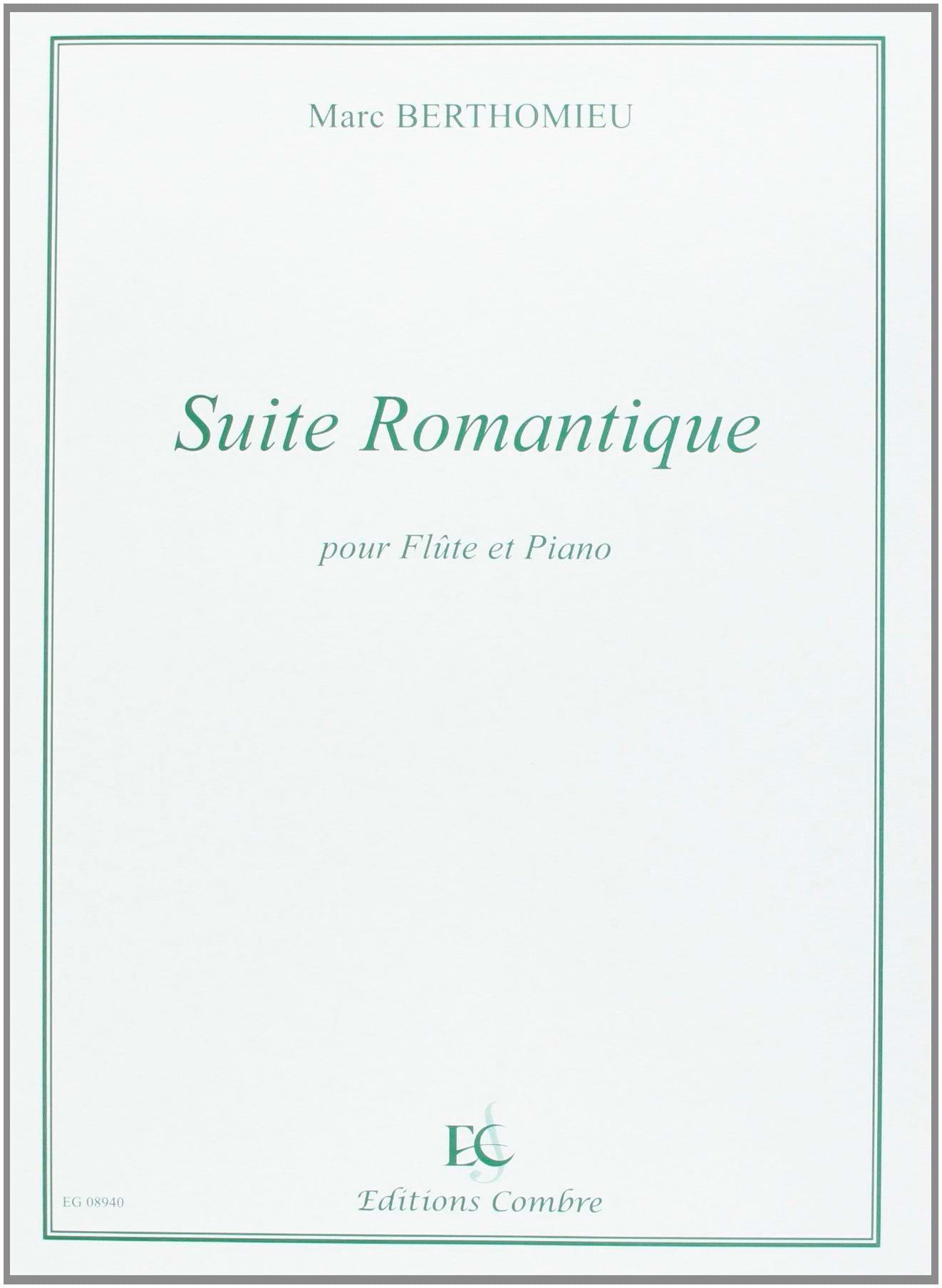Suite romantique - Marc Berthomieu - Partition - laflutedepan.com