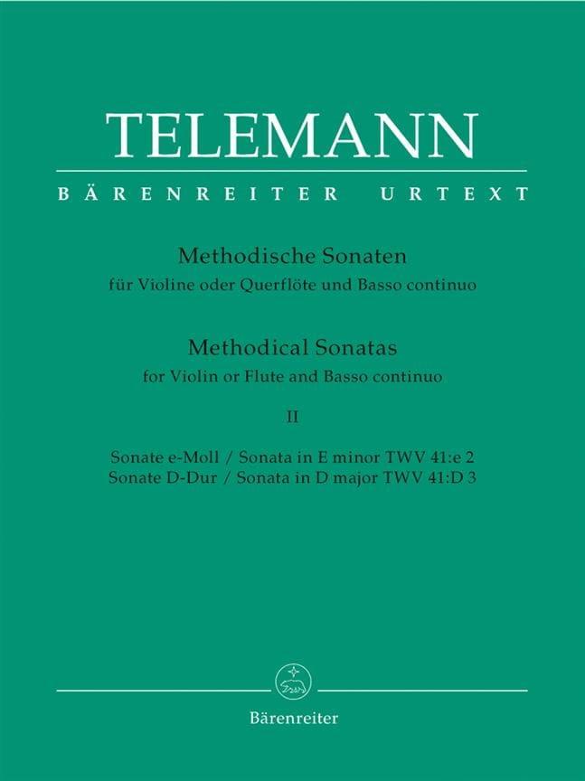 12 Methodische Sonaten Bd. 2 - Flöte Violine u. Bc - laflutedepan.com
