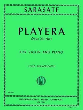 Playera op. 23 n° 1 - SARASATE - Partition - laflutedepan.com