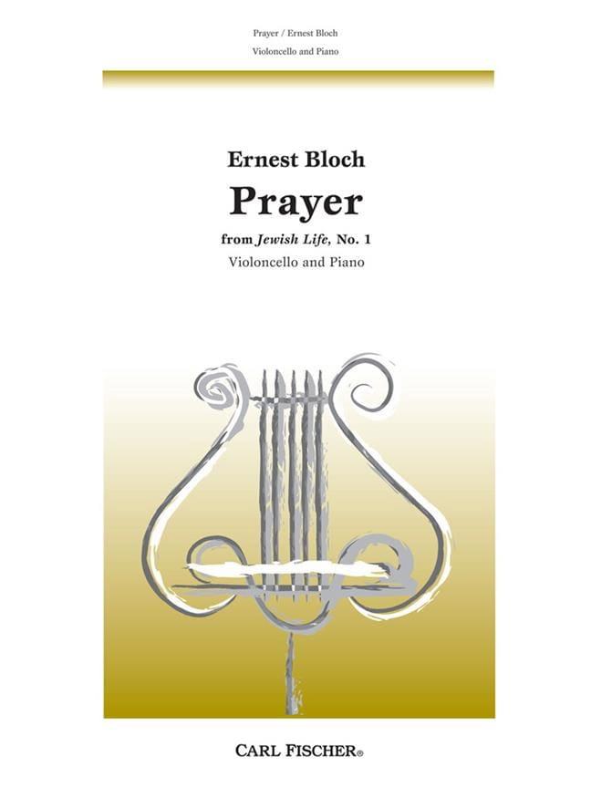 Prayer - Violoncelle - BLOCH - Partition - laflutedepan.com