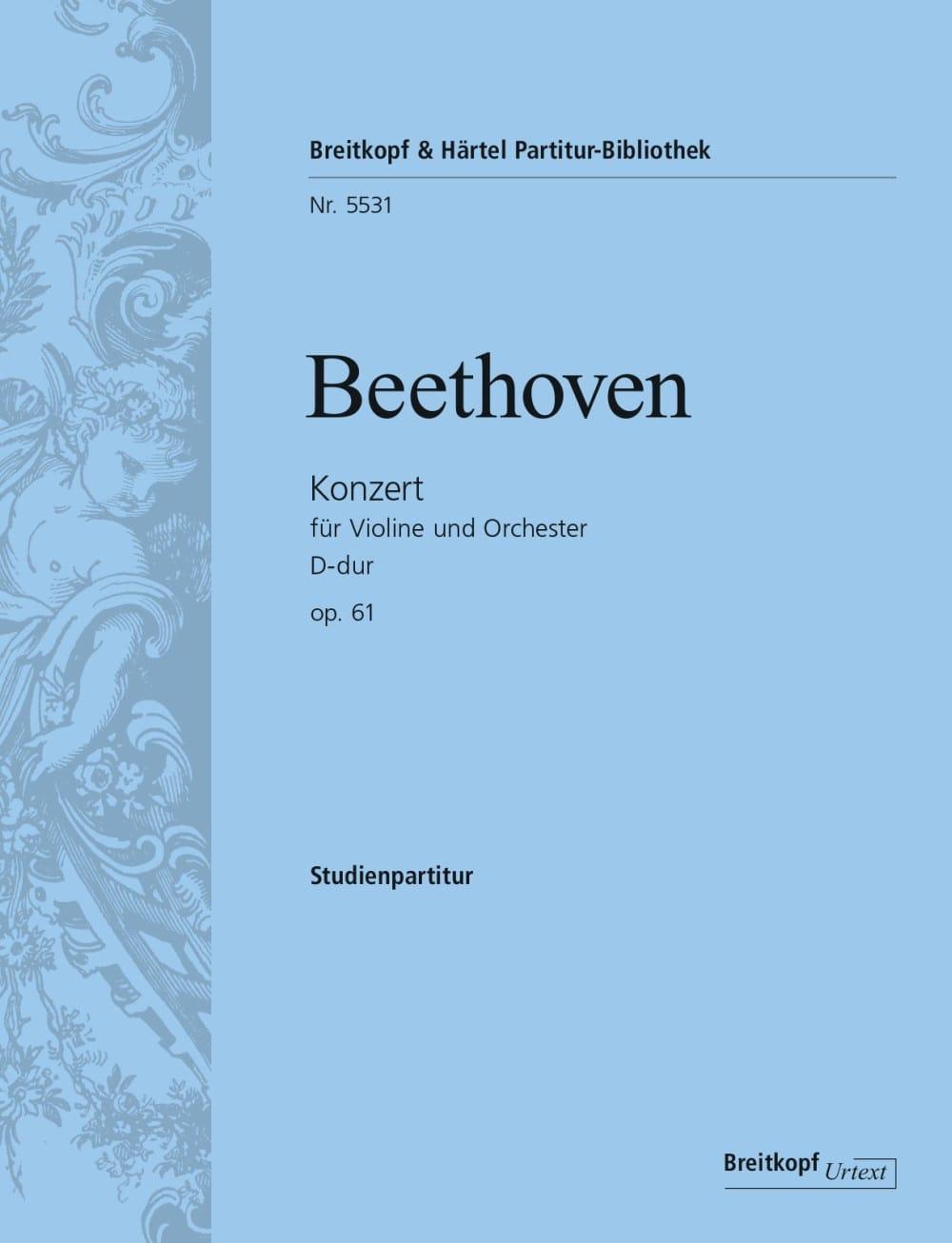 Concerto pour violon, op. 61 - Conducteur - laflutedepan.com