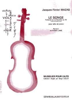 Le Songe op. 92 MAZAS Partition Alto - laflutedepan