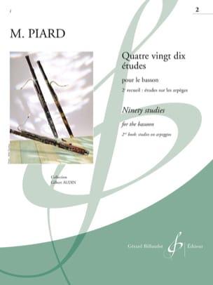 90 Etudes - volume 2 Marius Piard Partition Basson - laflutedepan