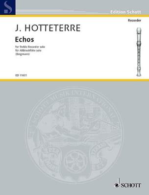 Echos Jacques (Le romain) Hotteterre Partition laflutedepan