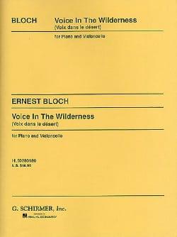 Voice in the Wilderness BLOCH Partition Violoncelle - laflutedepan