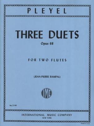 3 Duets op. 68 - 2 Flutes Ignace Pleyel Partition laflutedepan