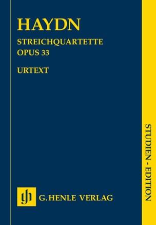 Streichquartette Opus 33 HAYDN Partition Petit format - laflutedepan