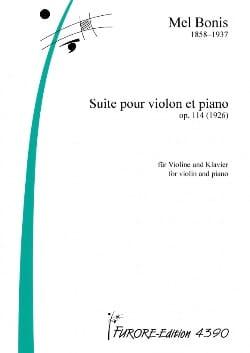Suite Pour Violon et Piano - Mel Bonis - Partition - laflutedepan.com