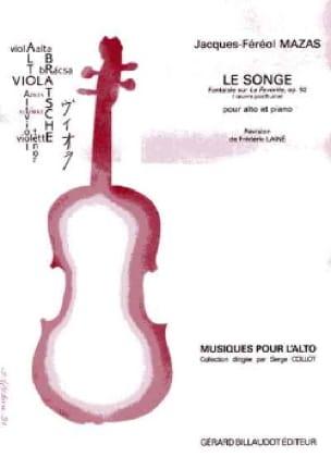 Le Songe op. 92 - MAZAS - Partition - Alto - laflutedepan.com