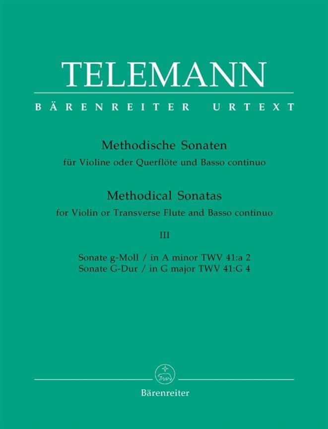 12 Methodische Sonaten - Bd. 3 - Flöte Violine u. Bc - laflutedepan.com
