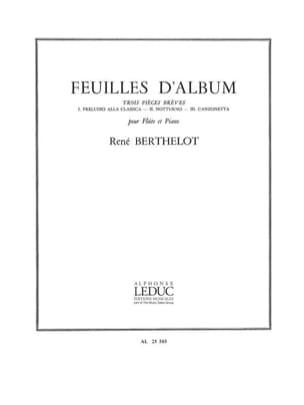 Feuilles d'album René Berthelot Partition laflutedepan