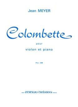 Colombette Jean Meyer Partition Violon - laflutedepan