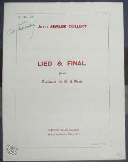 Lied et Final Jules Semler-Collery Partition Clarinette - laflutedepan