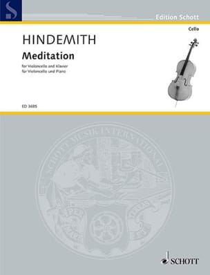 Meditation - Cello - HINDEMITH - Partition - laflutedepan.com