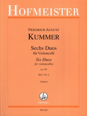 6 Duos op. 156, Volume 2 Friedrich-August Kummer laflutedepan