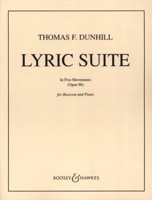 Lyric suite op. 96 Thomas Frederick Dunhill Partition laflutedepan