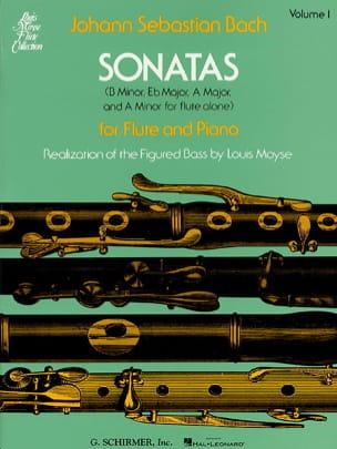 Sonatas - Volume 1 - Flûte piano BACH Partition laflutedepan