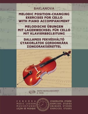 Melodic Position-Changing exercises - Cello Piano laflutedepan