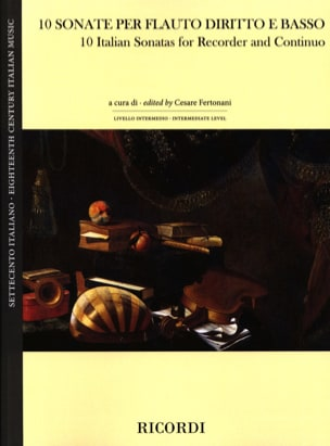 10 Sonates Italiennes - Flûte à Bec et BC Partition laflutedepan