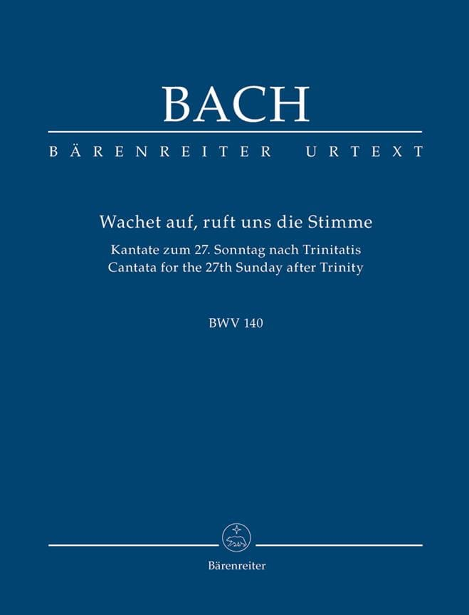 Wachet Auf, Ruft Uns Die Stimme. Kantate Zum 27. Sonntag Nach Trinitatis. Urtext - laflutedepan.com