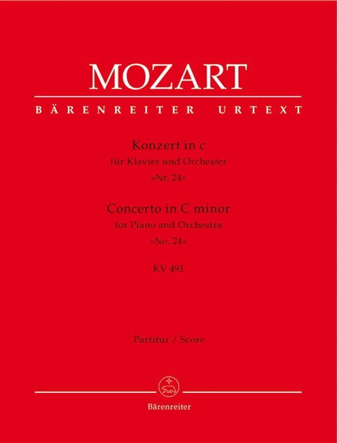 Klavierkonzert c-moll KV 491 - Partitur - MOZART - laflutedepan.com
