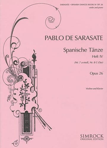 Danses espagnoles op. 26 - Volume 4 - SARASATE - laflutedepan.com