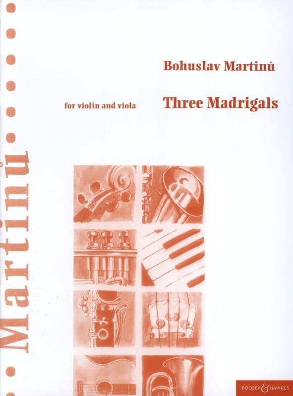 3 Madrigals - MARTINU - Partition - 0 - laflutedepan.com