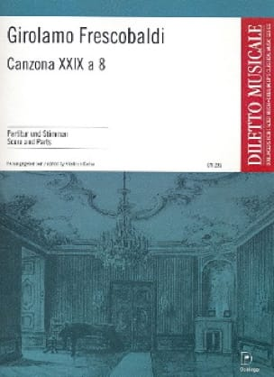 Canzona Xxix A 8 - FRESCOBALDI - Partition - laflutedepan.com