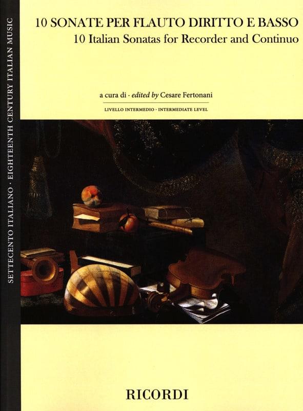 10 Sonates Italiennes - Flûte à Bec et BC - laflutedepan.com