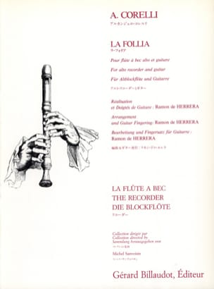 La Follia - Flûte à bec alto guitare CORELLI Partition laflutedepan