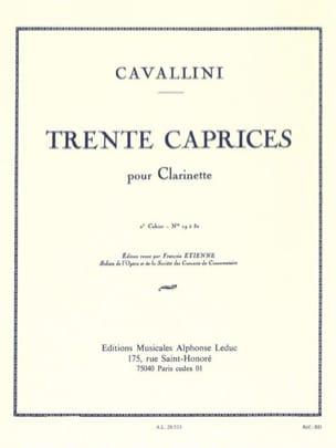 30 Caprices - Volume 2 - Clarinette Ernesto Cavallini laflutedepan