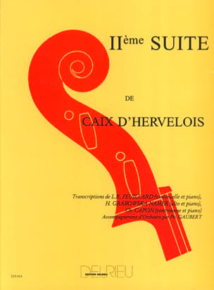 Suite N° 2 d'Hervelois Louis de Caix Partition laflutedepan