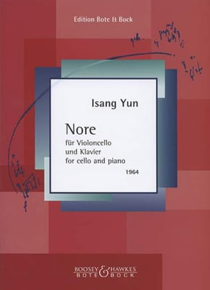 Nore 1964 Isang Yun Partition Violoncelle - laflutedepan