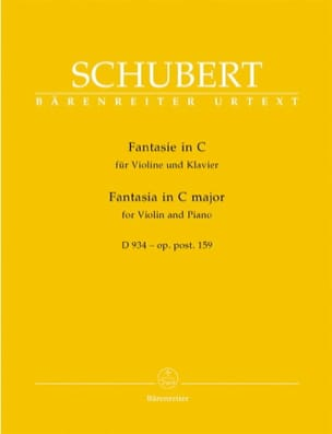 Fantasie en Do Majeur, D 934 op. posth. 159 SCHUBERT laflutedepan