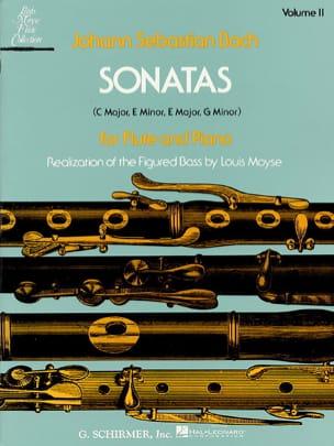 Sonatas - Volume 2 - Flûte piano - BACH - Partition - laflutedepan.com