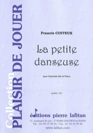 La petite danseuse Francis Coiteux Partition Clarinette - laflutedepan