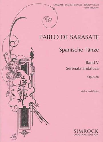 Danses espagnoles op. 28 - Volume 5 - SARASATE - laflutedepan.com