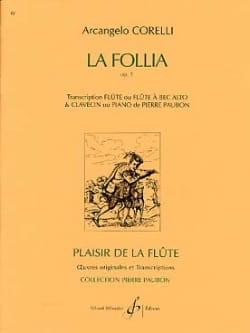 La Follia op. 5 - Flûte clavecin CORELLI Partition laflutedepan