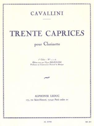 30 Caprices Volume 1 - Clarinette Ernesto Cavallini laflutedepan