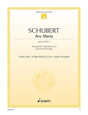 Ave Maria op. 52 n° 6 SCHUBERT Partition Violon - laflutedepan