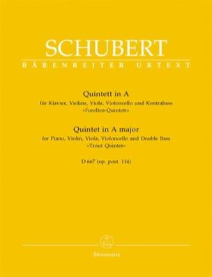 Quintette de la Truite en La Majeur D 667 -Parties instrumentales laflutedepan