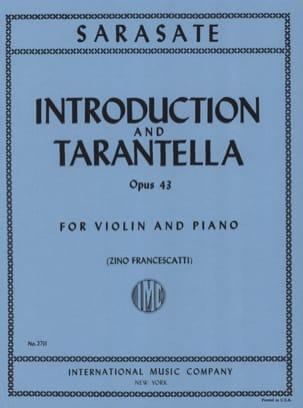 Introduction et Tarantelle op. 43 SARASATE Partition laflutedepan