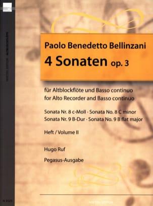 4 Sonaten op. 3 - Heft 2 - Altblockflöte u. BC laflutedepan
