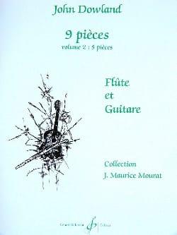 9 Pièces - Volume 2 - Flûte et guitare DOWLAND Partition laflutedepan