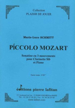Piccolo Mozart Marie-Luce Schmitt Partition Clarinette - laflutedepan