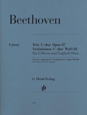 BEETHOVEN - Trio in C major op. 87 · Variations in C major WoO 28 - Partition - di-arezzo.co.uk