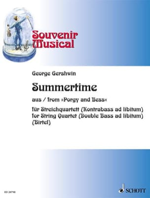 Summertime Extr. Porgy And Bess GERSHWIN Partition laflutedepan