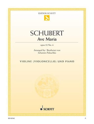 Ave Maria op. 52 n° 6 - SCHUBERT - Partition - laflutedepan.com